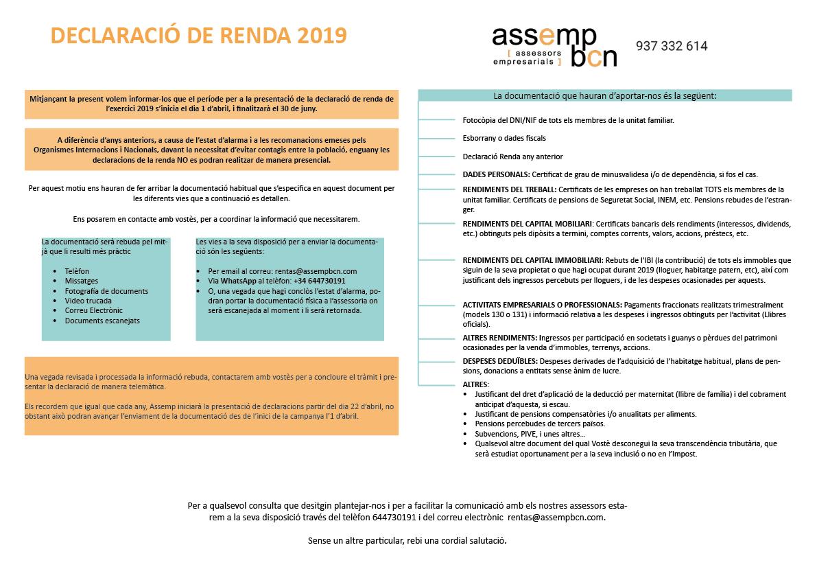 Renda 2019
